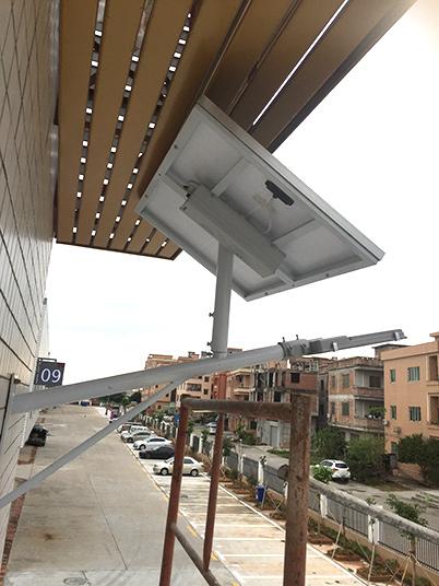 广东省东莞市华科城创新岛孵化园太阳能路灯工程案例