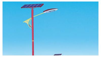 led太阳能路灯生产厂家应合乎灯饰的安裝标准和应用自然环境
