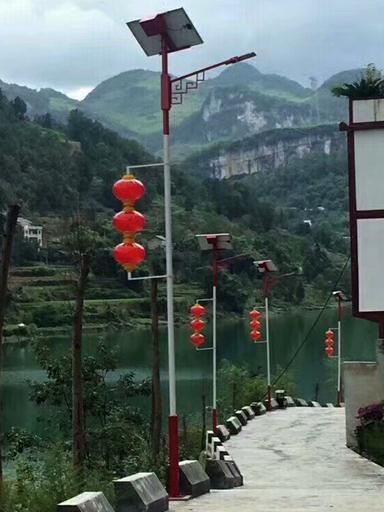 河南省郑州市6米太阳能道路灯工程案例