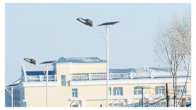 led太阳能路灯的应用也反映出了新农村生活的新面貌
