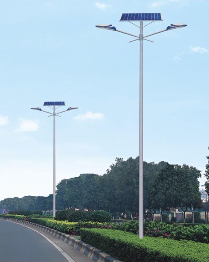 双头太阳能路灯 市政太阳能路灯 南德太阳能路灯厂家