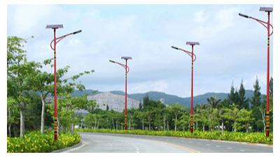 太阳能led路灯路面总宽与照明灯具布局中间的对应关系