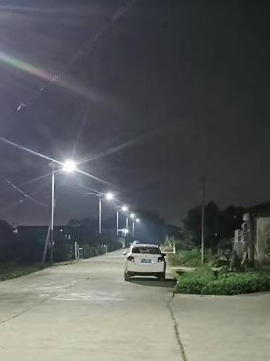重庆忠县的林总为村民安装新农村太阳能路灯