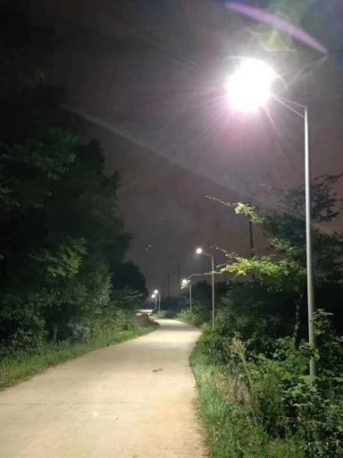 """四川成都爱心老板捐赠30W太阳能路灯""""点亮乡村、美好家园"""""""