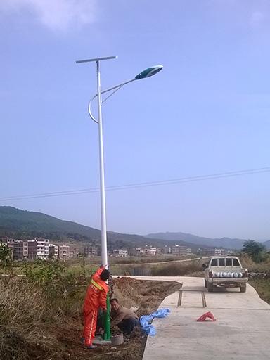 湖南省衡阳市祁东县黄土坡镇三星村太阳能路灯工程案例