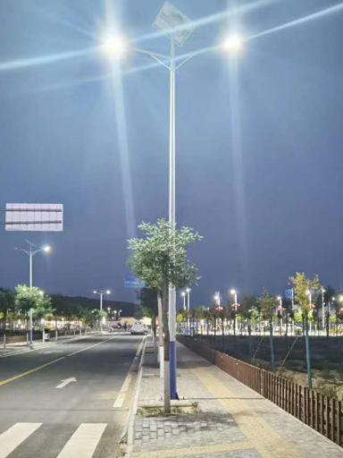 甘肃庆阳环县南湫乡双头太阳能路灯照明工程项目