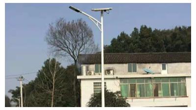 """6米太阳能路灯""""点亮""""美丽乡村路"""