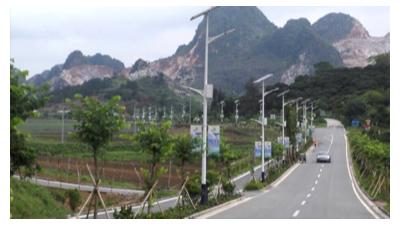 太阳能道路灯照亮新农村