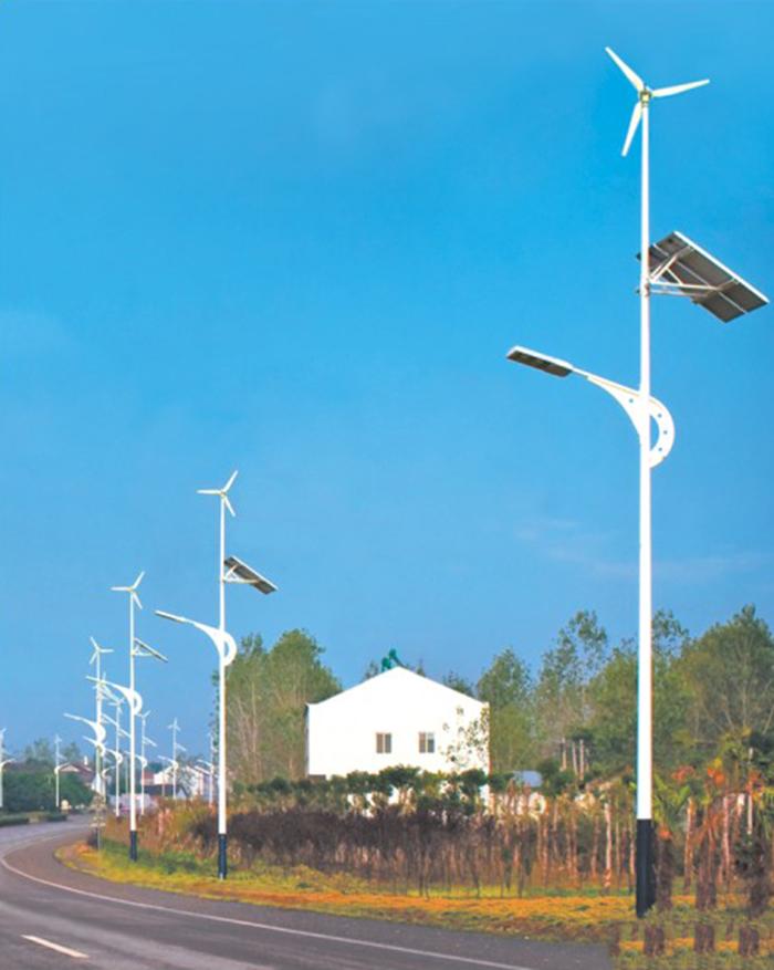 风机太阳能路灯 风力发电路灯 南德太阳能路灯厂家