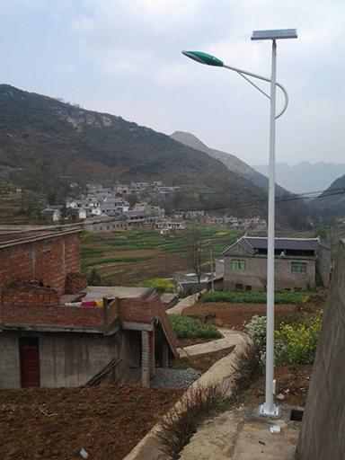 贵州省织金县太阳能路灯工程案例