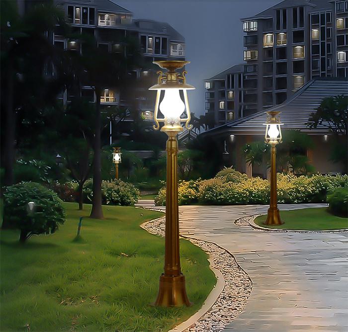 太阳能草坪灯 金色草坪灯 太阳能草坪灯厂家
