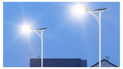 led户外太阳能路灯外型也是很别具一格的