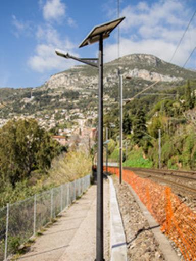 法国科西嘉岛太阳能路灯工程