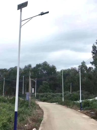 湖北龙山镇:爱心人士捐助南德太阳能路灯 照亮故乡路