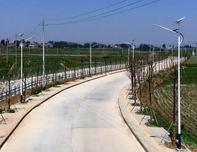 湖北襄阳市龙王镇太阳能路灯工程案例