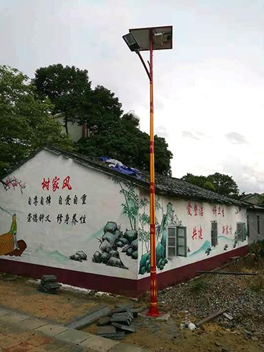 海南省琼中县营根镇太阳能特色路灯工程案例