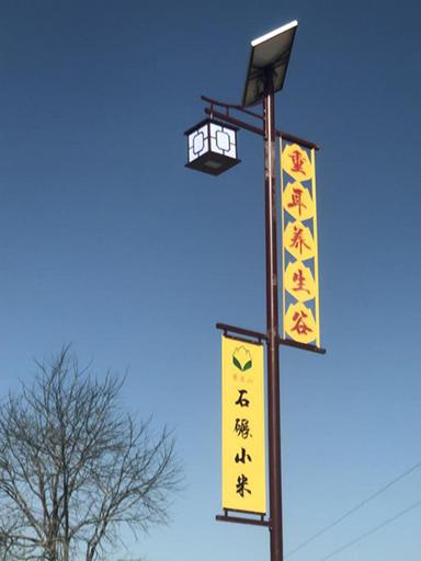 陕西延安子长县重耳养生谷旅游景区太阳能路灯工程案例