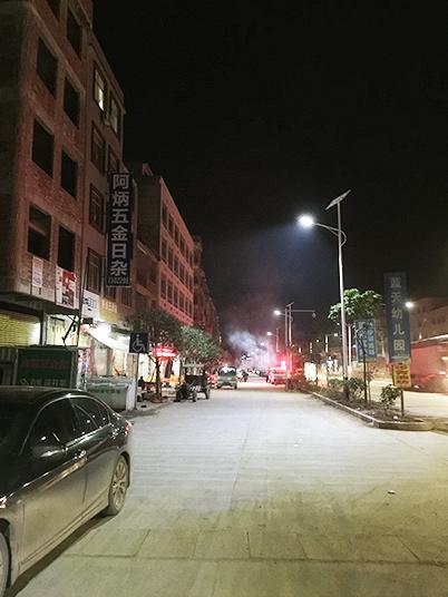广西梧州藤县塘步镇太阳能路灯工程案例