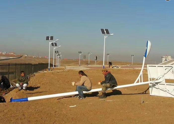 太阳能路灯出口到外国案例
