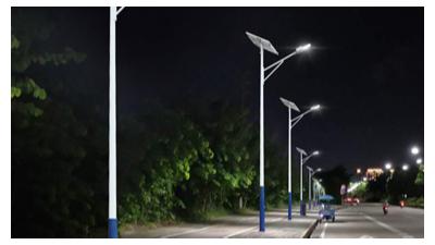 太阳能led路灯挑选更合适农村路面亮化工程工作中