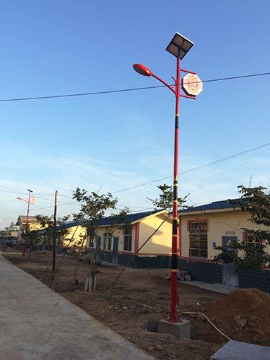 海南东方市八所镇太阳能民族特色路灯工程案例