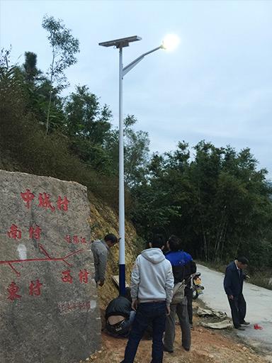 广东省江门市台山北陡镇太阳能路灯工程案例