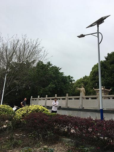 广东省潮州市饶平县公园太阳能路灯