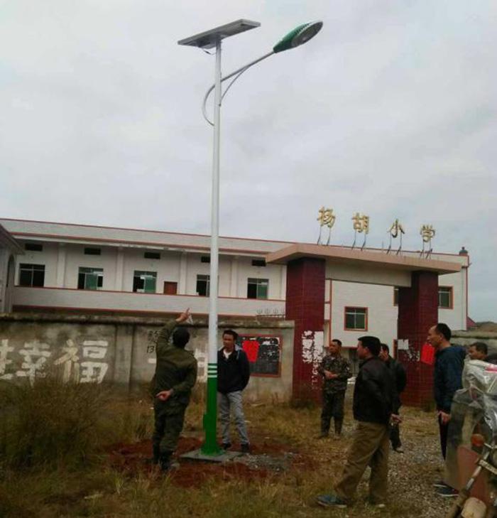 杨湖小学太阳能路灯