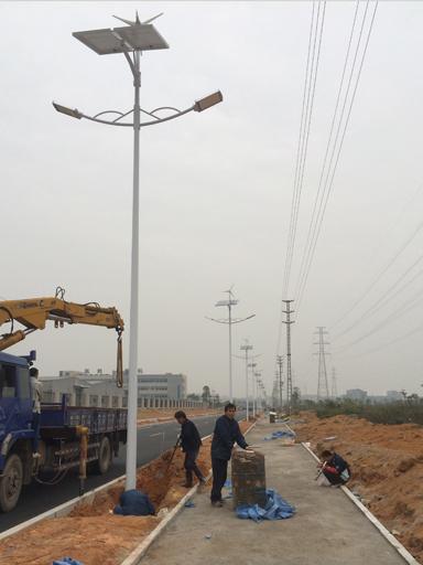 广东珠海风光互补太阳能路灯工程案例