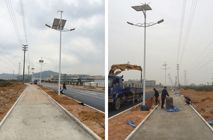 太阳能风光互补路灯 广东中山太阳能路灯 南德太阳能灯饰有限公司