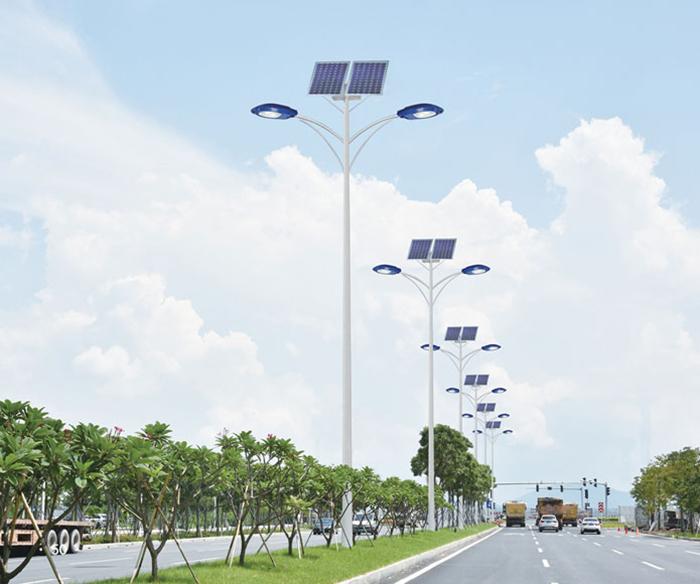 太阳能路灯_双头太阳能路灯_太阳能道路路灯