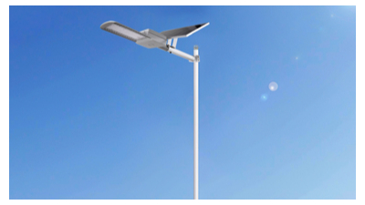 农村太阳能路灯变成了一个农村的个人名片