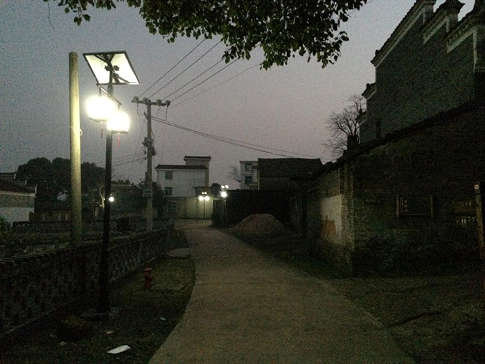 江西省吉安市吉水县燕坊古镇太阳能庭院灯