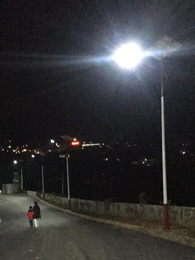 贵州省六盘水市盘县松河乡民族元素路灯工程案例