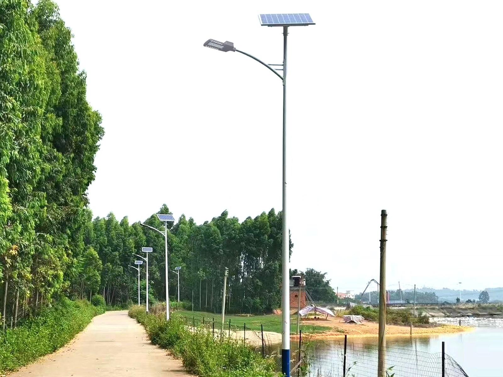 太阳能路灯白天效果