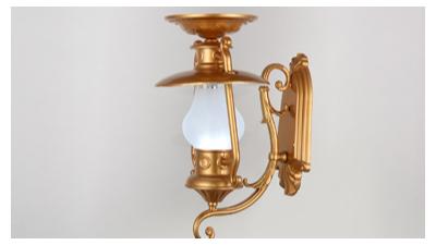 太阳能壁灯的使用要比普通灯具有优势很多
