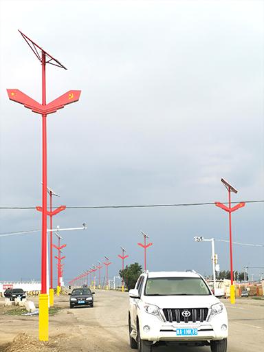 我(新疆)家乡的守卫:南德太阳能特色路灯