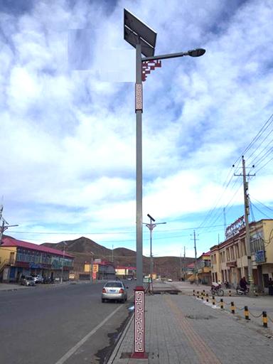 四川省南充市嘉陵区双桂镇观音堂村太阳能特色路灯工程案例