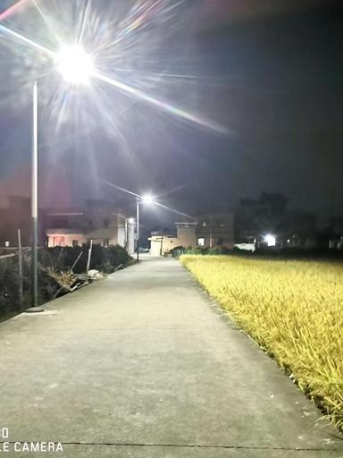 """四川南充营山:乡村装上太阳能路灯 村民已不""""打黑摸"""""""