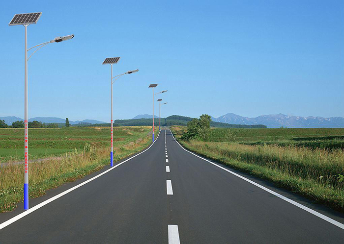 太阳能马路灯效果图
