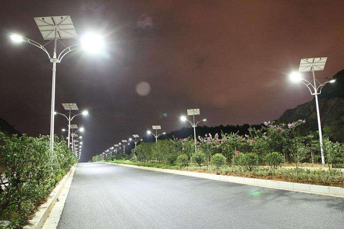 太阳能路灯 双头路灯 太阳能路灯厂家