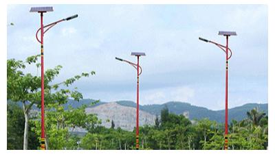 融合地方文化设计制作中华民族文明行为特色新农村太阳能路灯