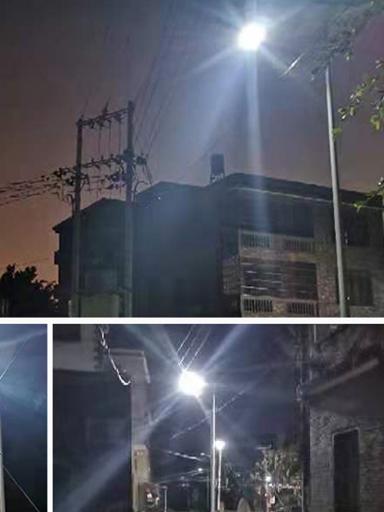 广西省北流市新圩镇河村6米太阳能路灯